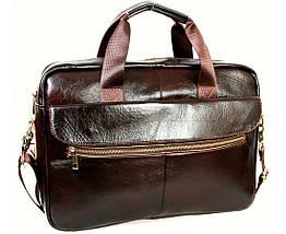 Мужской кожаный портфель кофейный (Формат: А4 и больше) NAVI NVP-0212-Cofee, фото 3