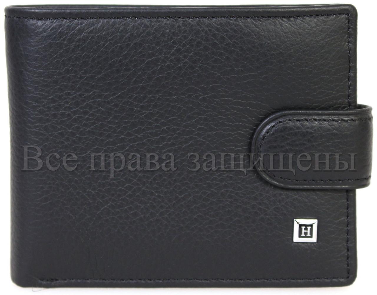 Чоловічий шкіряний гаманець чорний Horton H-M14-BLACK