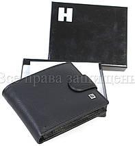 Чоловічий шкіряний гаманець чорний Horton H-M14-BLACK, фото 2