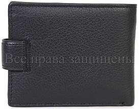 Чоловічий шкіряний гаманець чорний Horton H-M14-BLACK, фото 3