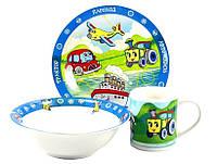 Детский набор посуды Транспорт ZBL 005