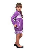Платье  детское  М -822 с длинным рукавом рост 134