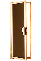 Стеклянная дверь для сауны и бани TESLI UNO
