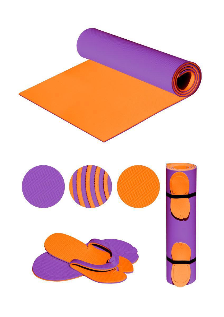 """Коврик (каремат) """"EVA-FIT"""" фиолетово-оранжевый F-0076-viol/orng"""