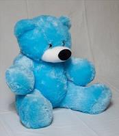 """Мягкая игрушка медведь сидячий """"бублик"""" голубого цвета 95 см"""