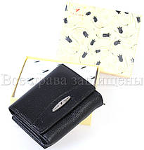 Жіночий шкіряний гаманець чорний Tailian T728-3H09-B BLACK, фото 2