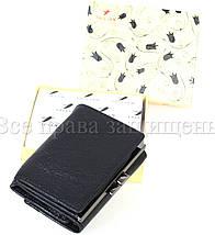 Жіночий шкіряний гаманець чорний Tailian T728-3H09-B BLACK, фото 3