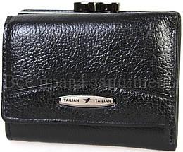 Женский кожаный кошелек черный Tailian T707-3H09-B BLACK, фото 2