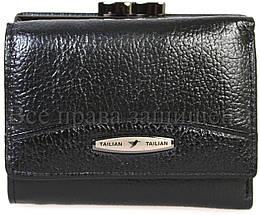 Женский кожаный кошелек черный Tailian T707-3H09-B BLACK, фото 3