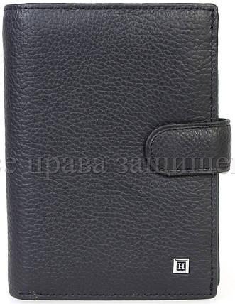 Мужской кожаный кошелек черный Horton H-M1-BLACK, фото 2