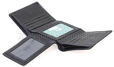 Мужской кожаный кошелек черный MD-leather MD-618-A-BLACK, фото 3
