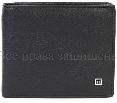 Мужской кожаный кошелек черный Horton H109BLACK, фото 2