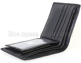 Мужской кожаный кошелек черный Horton H109BLACK, фото 3