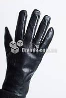 Кожаные мужские перчатки (заклепка + резинка )