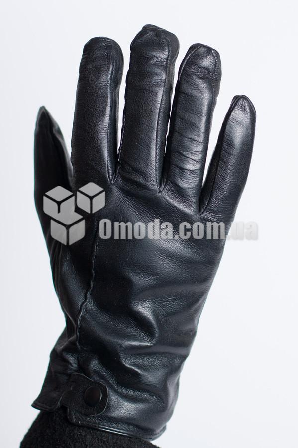 Кожаные мужские перчатки (отделочные строчка + заклепка)