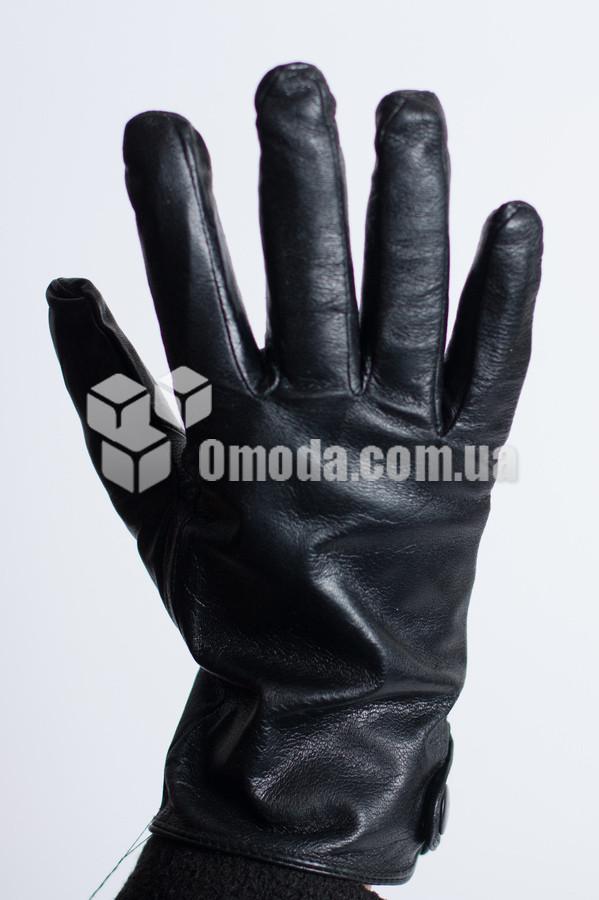Кожаные мужские перчатки (заклепка сбоку)