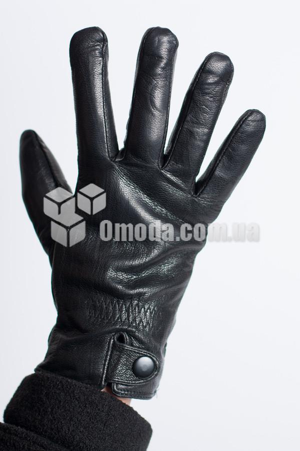 Кожаные мужские перчатки (заклепка +внешн.внутр. резинки)