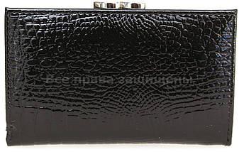 Женский кожаный кошелек черный Horton H-AE214 BLACK, фото 2