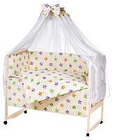 Детская постель Qvatro Gold RG-08 рисунок  бежевый (разноцветные совы), фото 1
