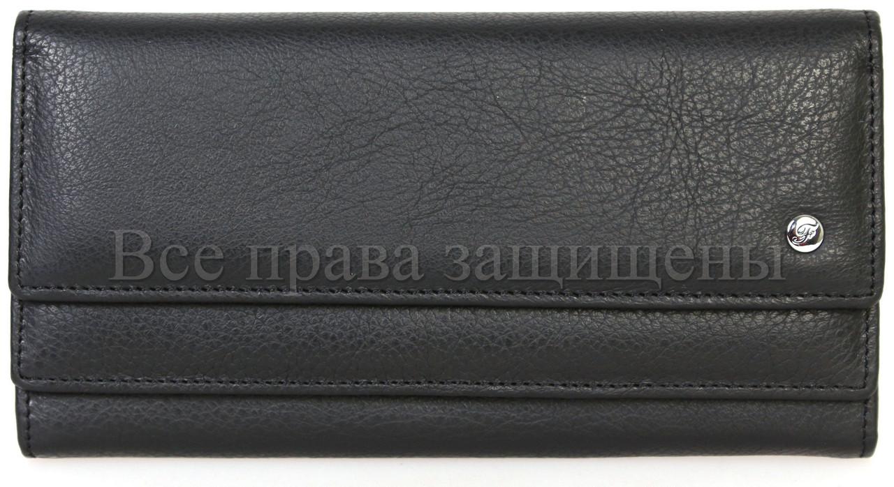 Женский кожаный кошелек черный Salfeite A-w79-BLACK