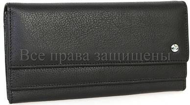 Женский кожаный кошелек черный Salfeite A-w79-BLACK, фото 3
