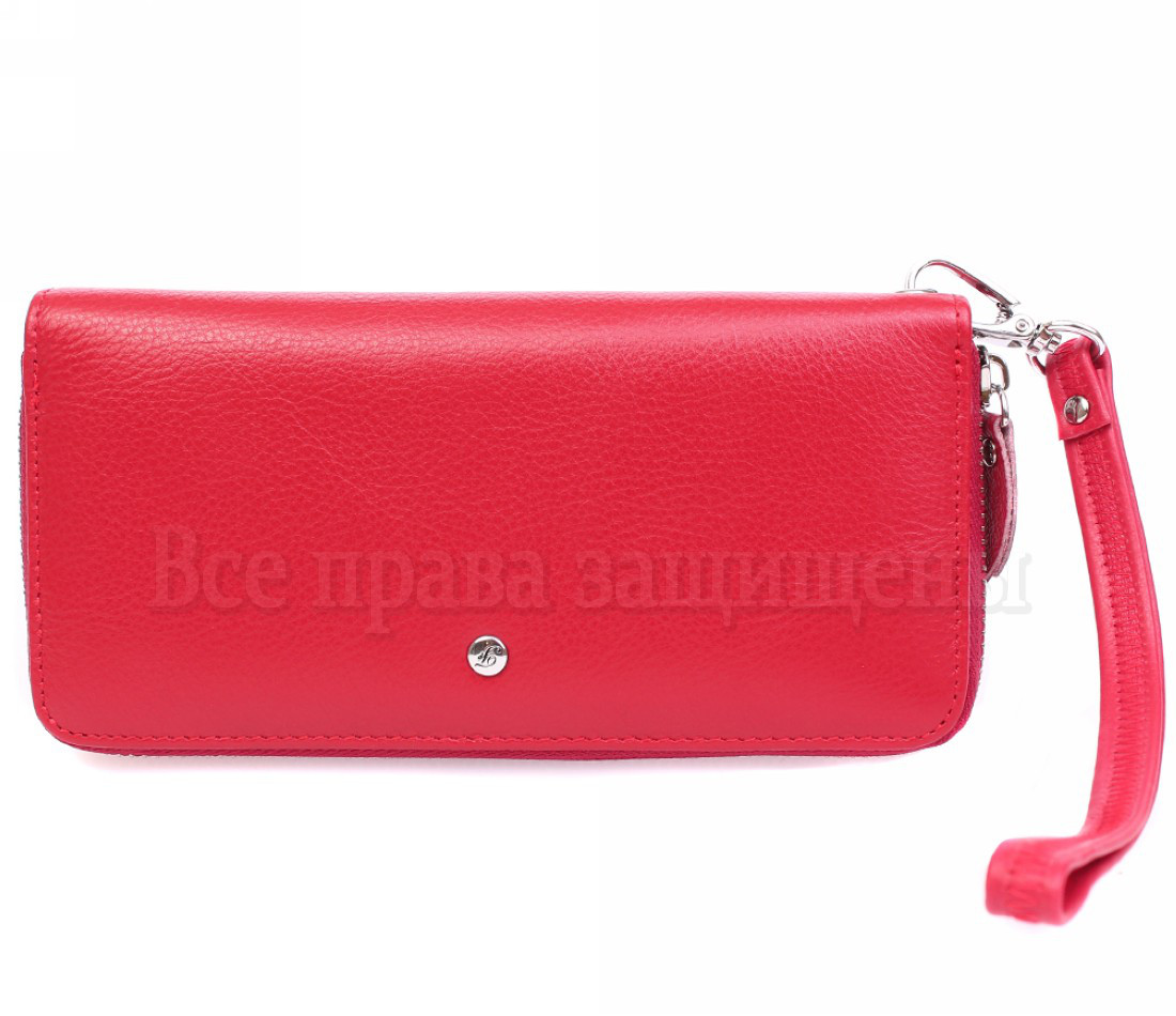 Женский кожаный кошелек красный Salfeite W38RED