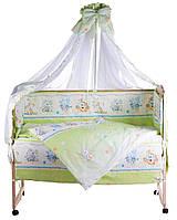 Детская постель Qvatro Lux  RL-08  салатовая (мышки с сыром,слон,кот,собачки), фото 1