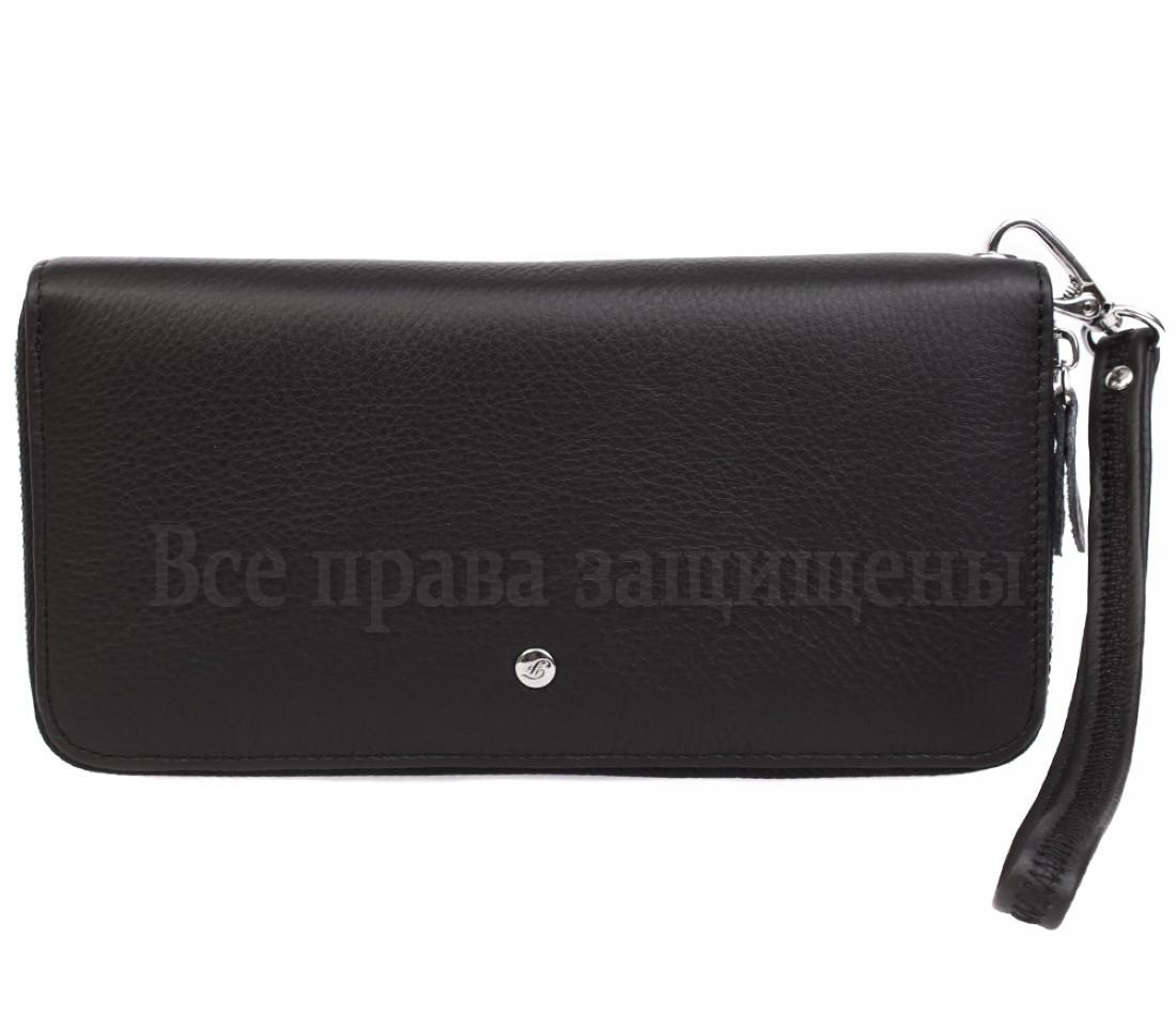 Женский кожаный кошелек черный Salfeite W38-1 BLACK