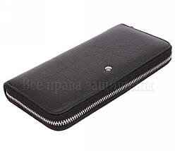 Женский кожаный кошелек черный Salfeite W38-1 BLACK, фото 2