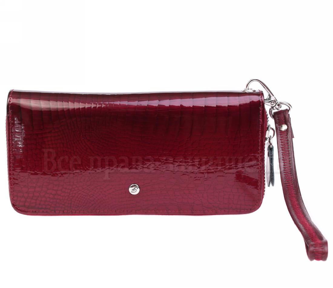 Жіночий шкіряний гаманець червоний Salfeite AE38JUJUBE RED