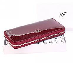 Жіночий шкіряний гаманець червоний Salfeite AE38JUJUBE RED, фото 3