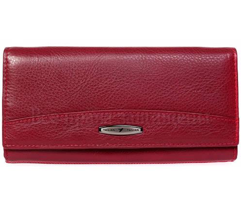 Женский кожаный кошелек красный Tailian T809 RED women, фото 2