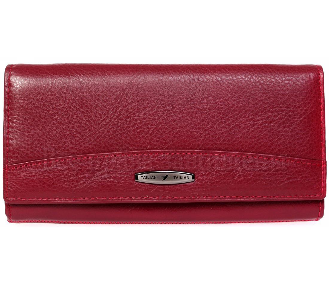 Женский кожаный кошелек красный Tailian T809 RED women