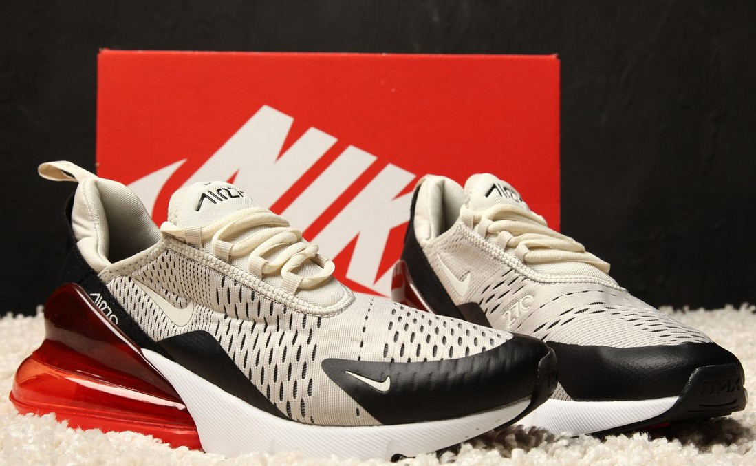 "Кроссовки Nike Air Max 270 ""Hot Punch"". Живое фото. Топ реплика"