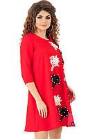 Платье красное с вышивкой  41193