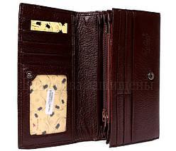 Женский кожаный кошелек темно- коричневый Tailian T515 CRIMSON women, фото 3