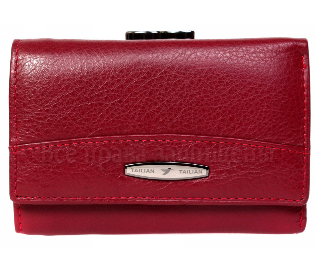 Женский кожаный кошелек красный Tailian T726 RED women