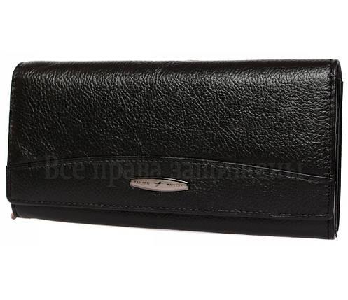 Женский кожаный кошелек черный Tailian T816 BLACK women, фото 2
