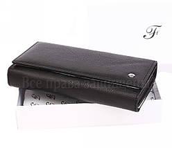 Женский кожаный кошелек черный Salfeite W46 BLACK, фото 3