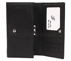 Женский кожаный кошелек черный Salfeite W46 BLACK, фото 2