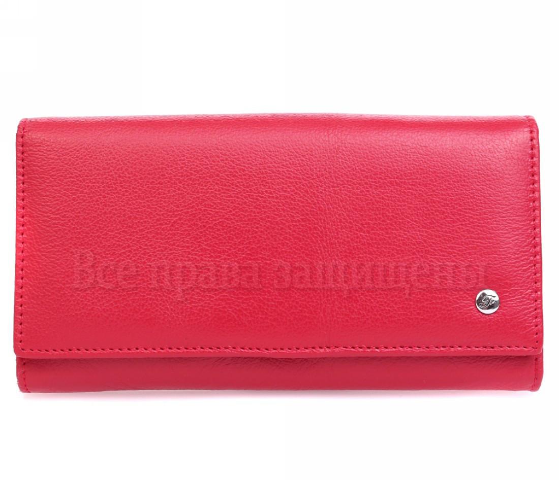 Женский кожаный кошелек красный Salfeite W46RED