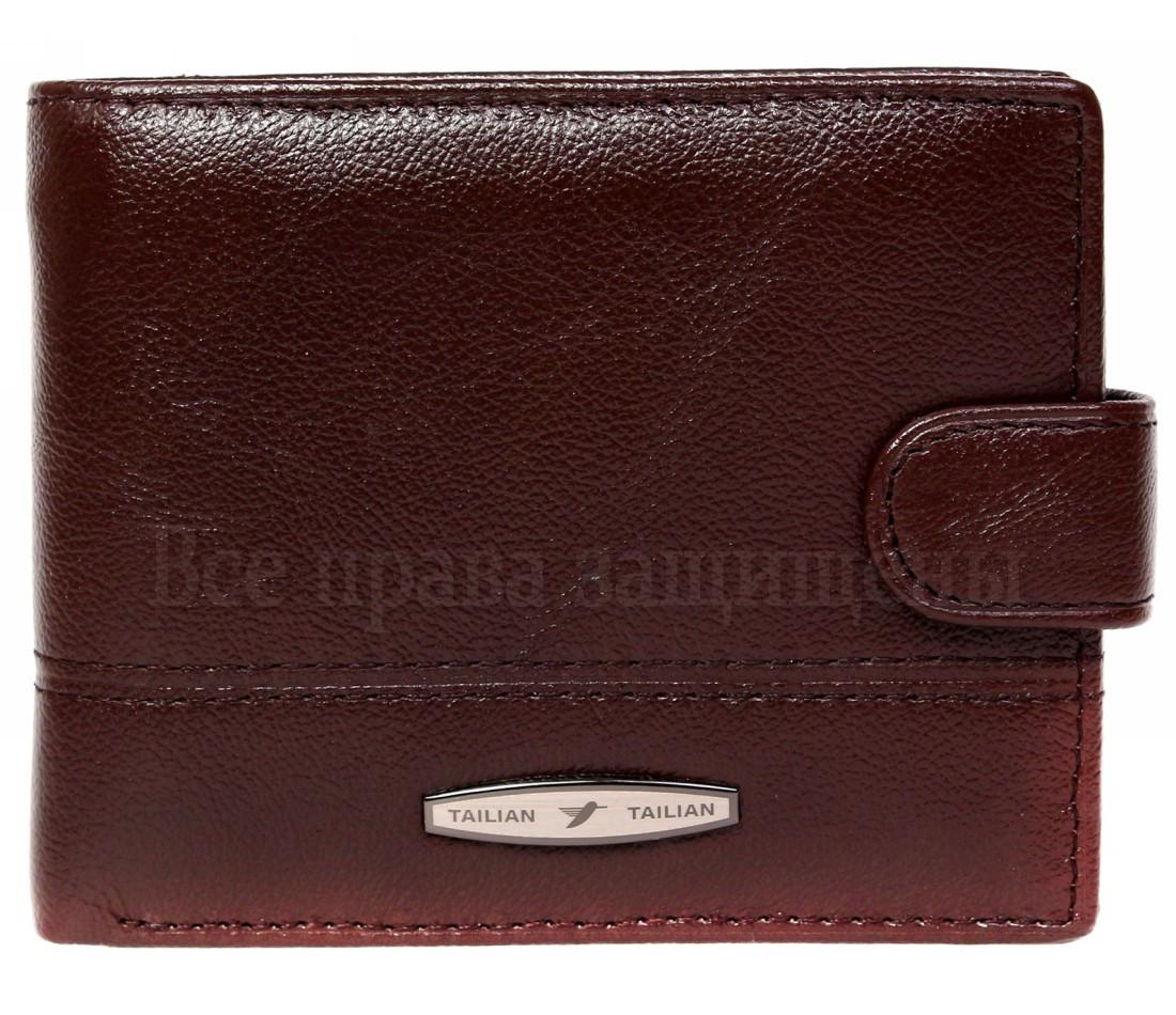 Мужской кожаный кошелек коричневый Tailian T120CRIMSONmen