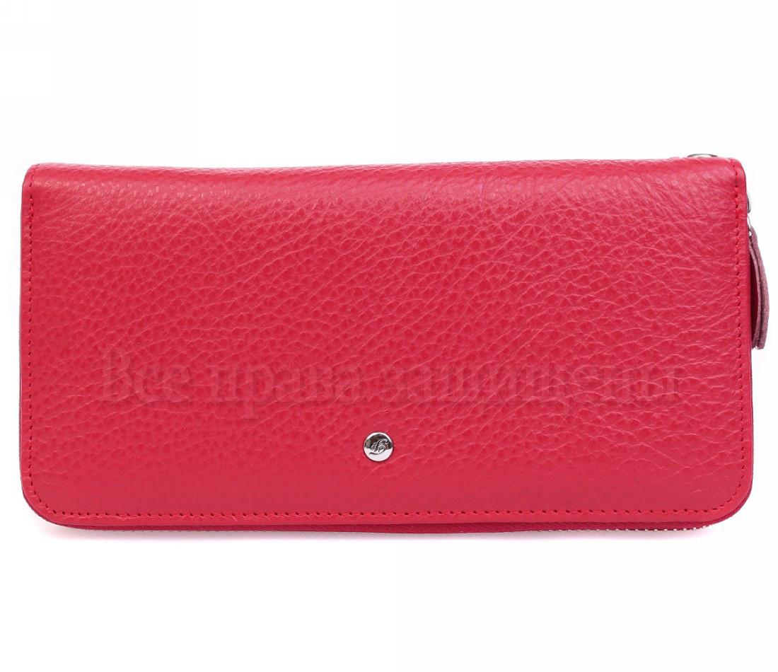 Женский кожаный кошелек красный Salfeite W38-1RED