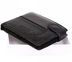Мужской кожаный кошелек черный Hassion E60987-1BLACK, фото 2