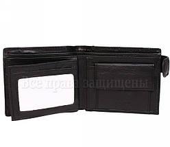 Мужской кожаный кошелек черный Hassion E60987-1BLACK, фото 3