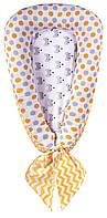 Кокон для новорожденных Babyroom Кокон-гнездышко fox оранжевый - серый, фото 1