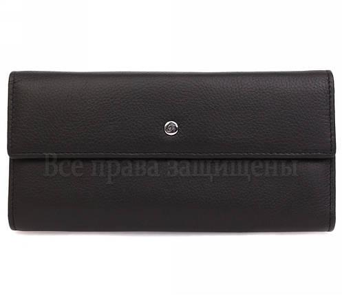 Женский кожаный кошелек черный Salfeite W34BLACK, фото 2