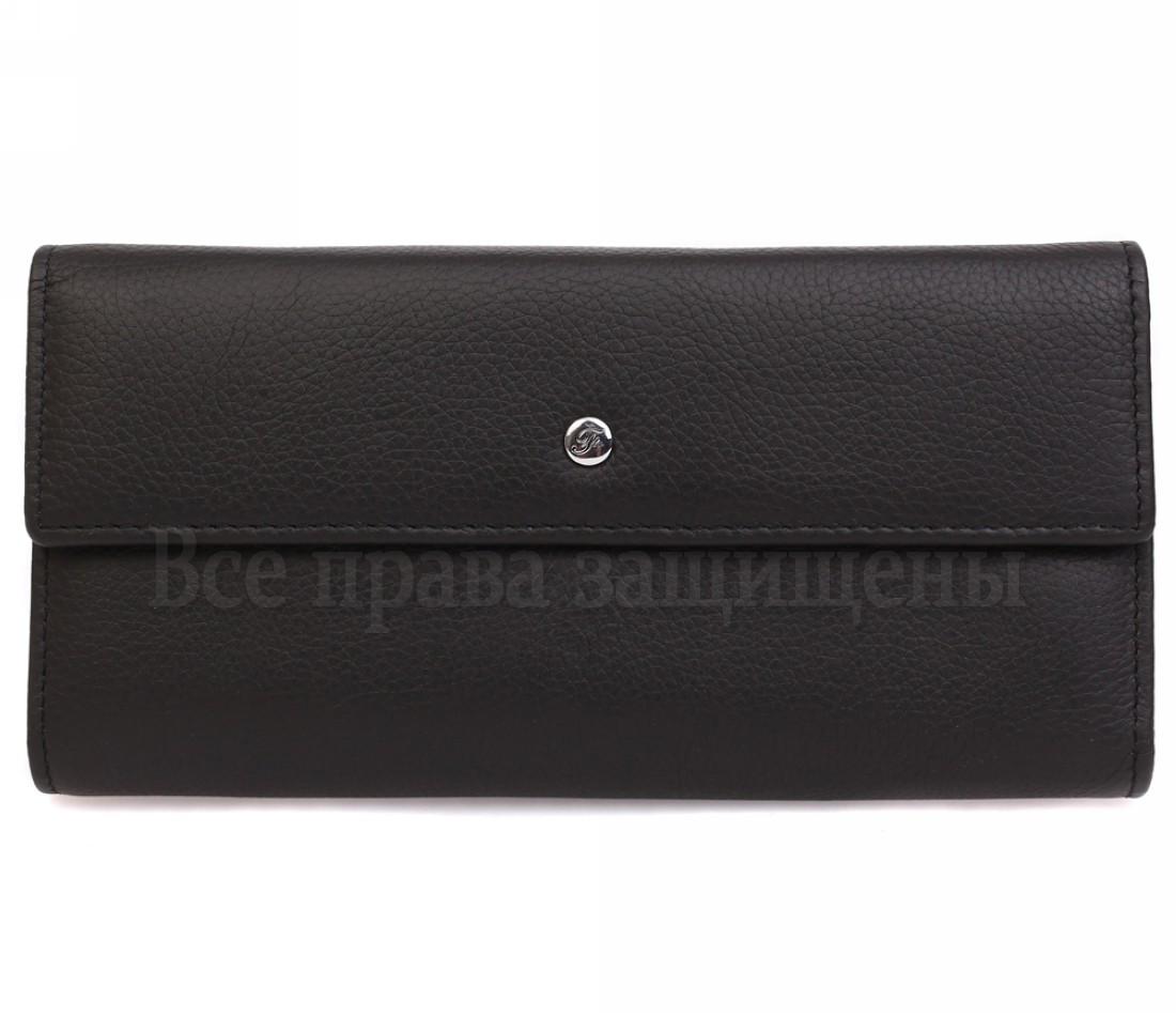 Женский кожаный кошелек черный Salfeite W34BLACK