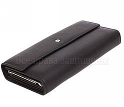 Женский кожаный кошелек черный Salfeite W34BLACK, фото 3