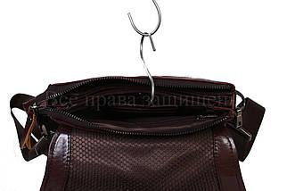 Чоловіча шкіряна сумка коричневий (Формат: більше А5) NAVI-BAGS NV-0801-brown, фото 2